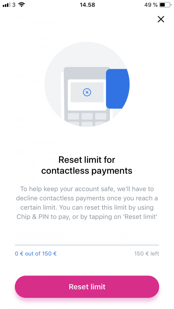 revolut contactless payment limit